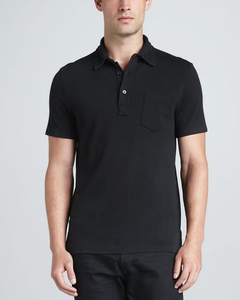 RLX Ralph Lauren Patchpocket Polo Black - Lyst