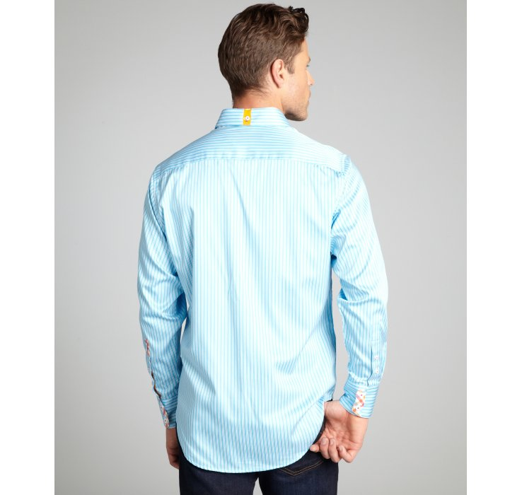 Robert graham Sky Blue and White Tanjung Long Sleeve Button Down ...