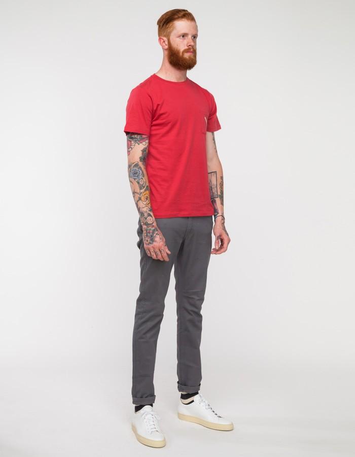 77114a48f Lyst - Saturdays NYC Randall Slash Pocket Tee in Red for Men