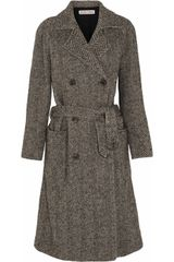 See By Chloé Herringbone Wool Blend Coat - Lyst