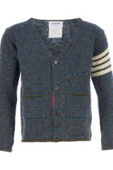 Thom Browne Striped Cardigan - Lyst