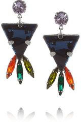 Tom Binns Faux Real Silver Plated Swarovski Crystal Earrings - Lyst