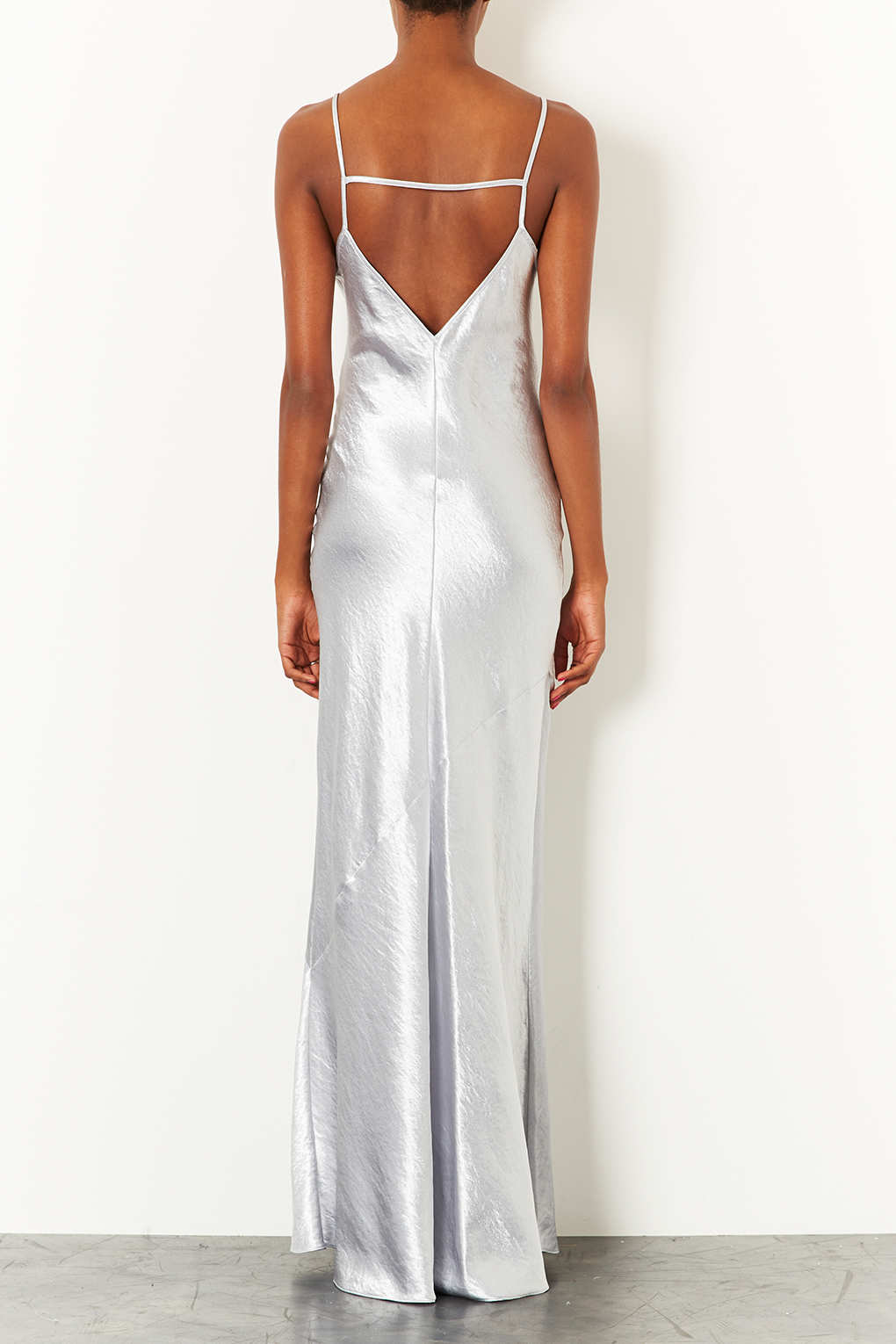 ce0b22a771 TOPSHOP Strappy Satin Maxi Dress in White - Lyst