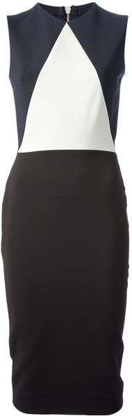 Victoria Beckham Bitone Dress - Lyst