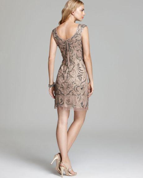 Adrianna Papell Mesh Sheath Dress Papell Mesh Sheath Dress