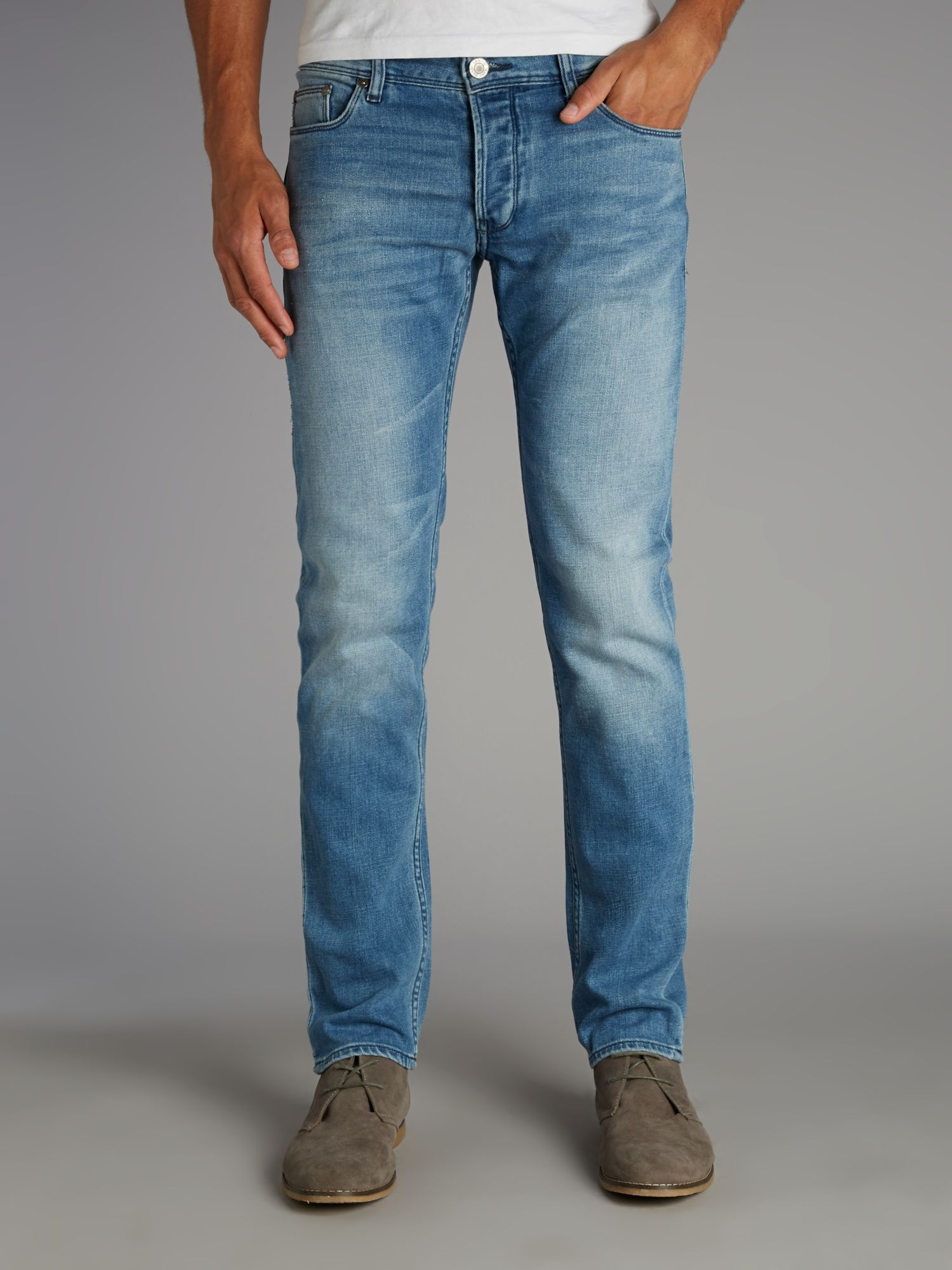 Armani jeans Light Wash Slim Fit Jean in Blue for Men | Lyst