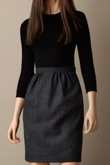 Burberry Check Skirt Shift Dress - Lyst