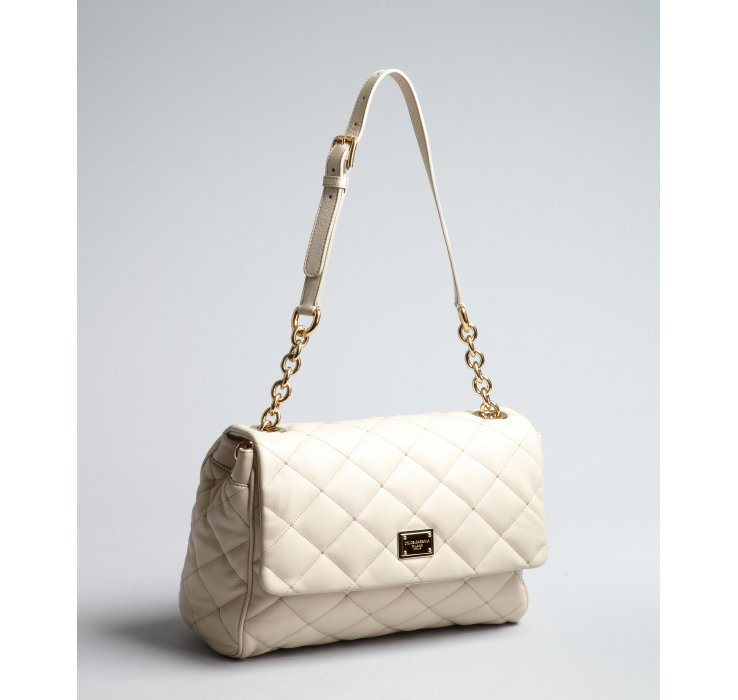 Dolce & gabbana Cream Quilted Leather Chain Shoulder Bag in Gray ...