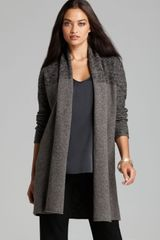 Eileen Fisher Shawl Collar Cardigan - Lyst