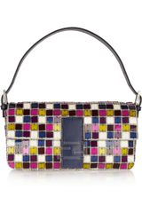 Fendi Baguette Crystal and Perspex Shoulder Bag - Lyst