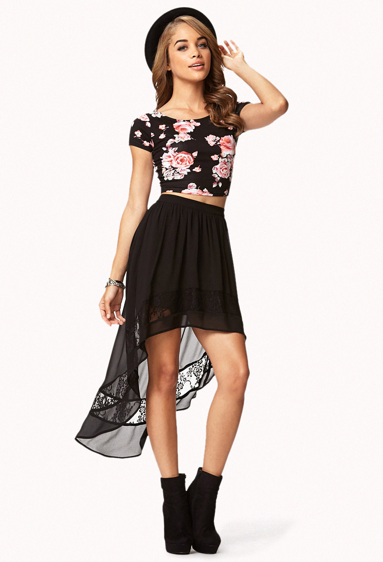 Buy Skirt hi low black pictures trends