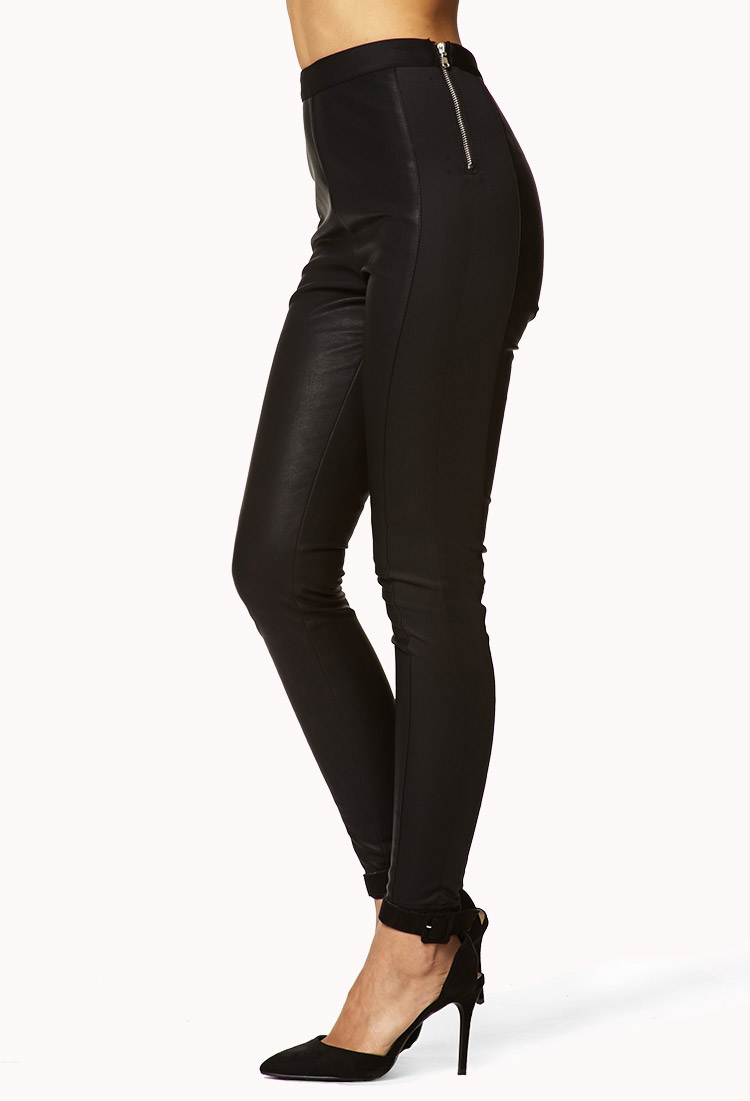 price reduced best quality reasonably priced Forever 21 High-Waisted Faux Leather Pants in Black - Lyst