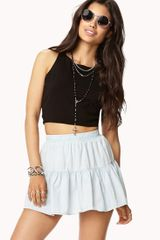 Forever 21 Chambray Skirt - Lyst