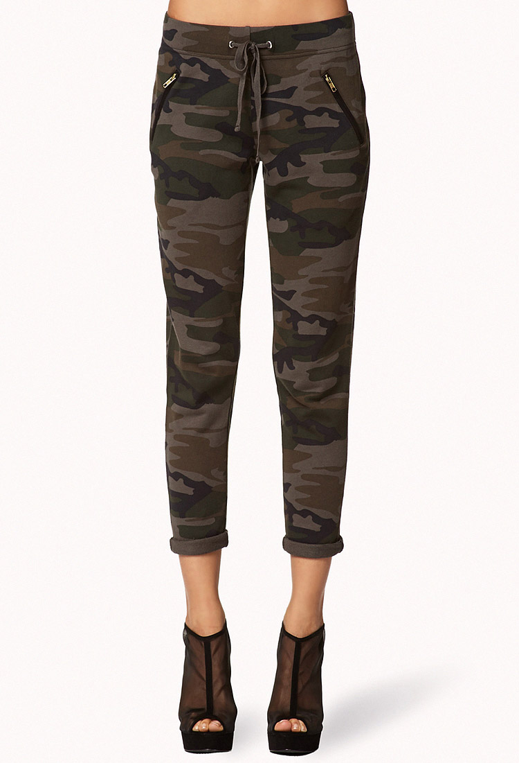 Creative Forever 21 Camo Leggings In Green (GREEN/BROWN) | Lyst