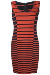 Halston Heritage Stripe Tank Dress - Lyst