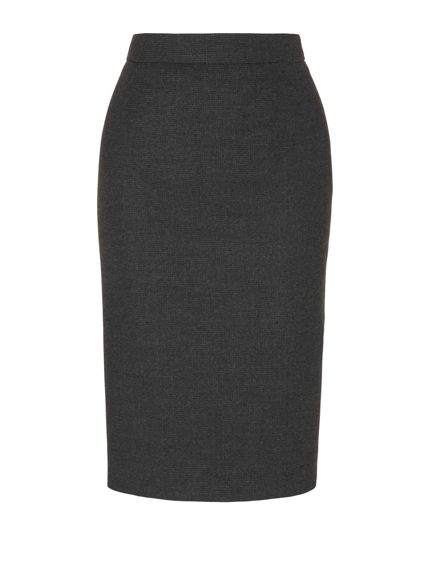 jaeger micro check wool pencil skirt in gray charcoal lyst