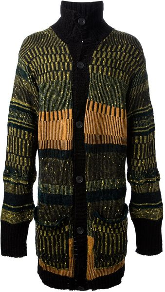 James Long Striped Cardigan - Lyst