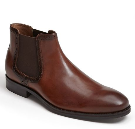 johnston murphy tyndall chelsea boot in brown for