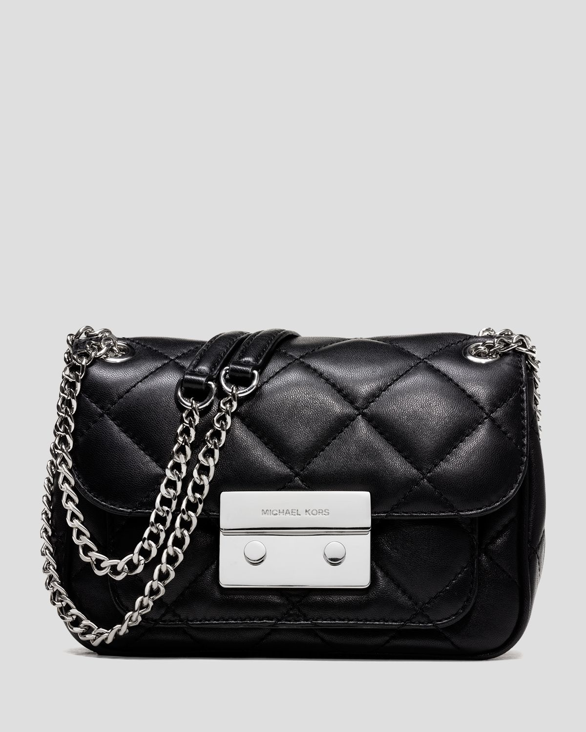 94c25bb4b15d52 Michael Kors Small Black Sloan Quilted Shoulder Bag | Stanford ...