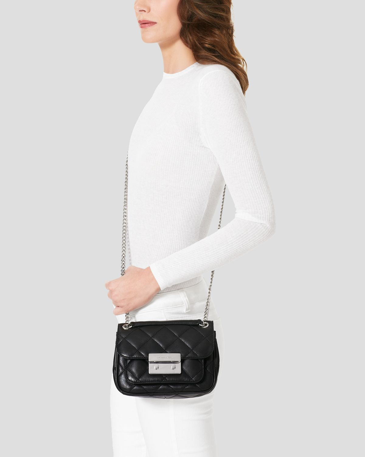 Michael Kors Small Sloan Quilted Shoulder Bag 10