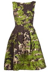 Oscar de la Renta Flared Full Skirt Dress - Lyst