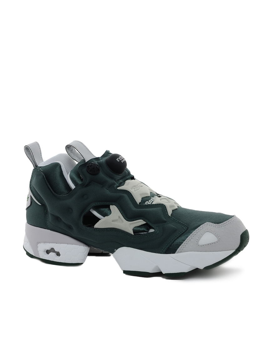 reebok pump fury trainers in green for men lyst. Black Bedroom Furniture Sets. Home Design Ideas