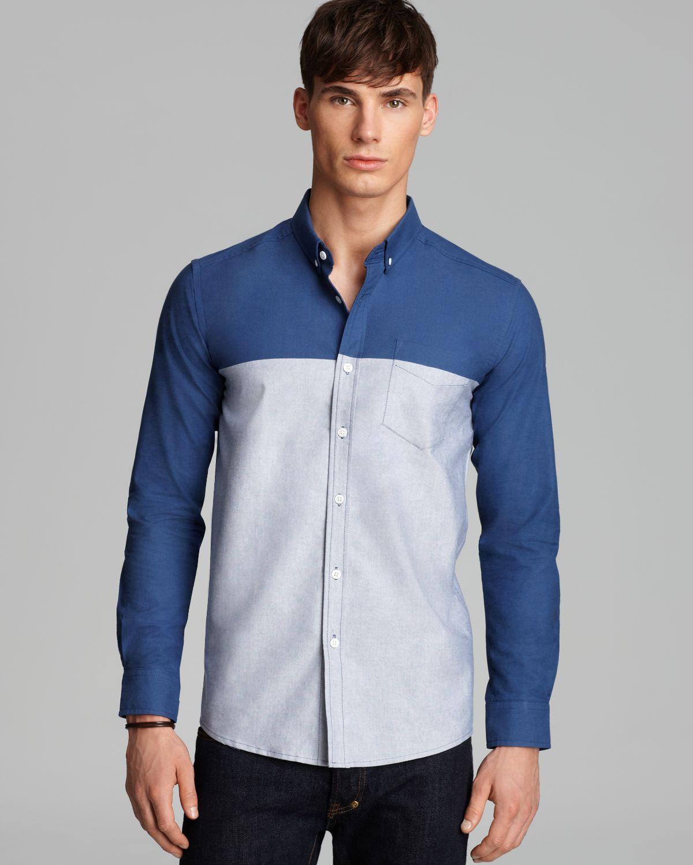 Color block dress shirt