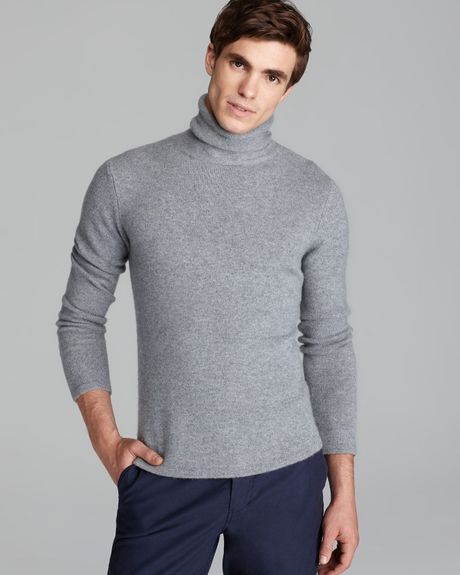 Steven Alan Terrence Cashmere Turtleneck Sweater in Gray