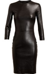 The Row Hentner Leather Pencil Dress - Lyst