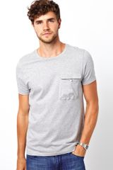 Asos Asos T-shirt with Slouchy Pocket - Lyst