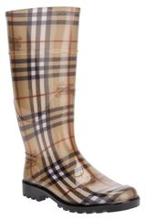 Burberry Checked Rainboot - Lyst