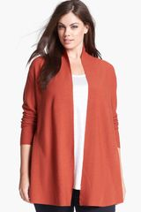 Eileen Fisher Shaped Merino Wool Cardigan - Lyst