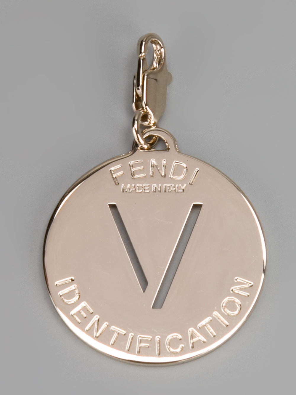 Fendi metallic v identity charm product 2 13028850 487735303eg fendi necklace letters mozeypictures Images