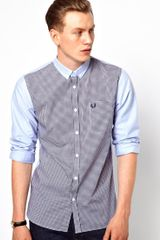 Fred Perry Gingham Panel Shirt - Lyst