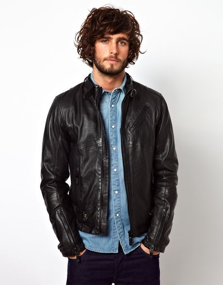 star Raw Jet Leather Jacket in Black for Men | Lyst