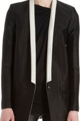 Helmut Lang Contrast Thin Lapel One-button Jacket - Lyst