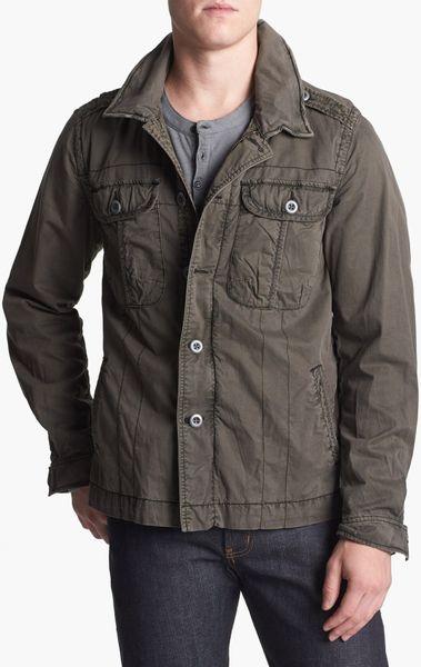 jeremiah rogue twill jacket in gray for teak lyst