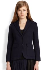 Rag & Bone Nancy Blazer Pinstriped Cotton Wool Blazer - Lyst