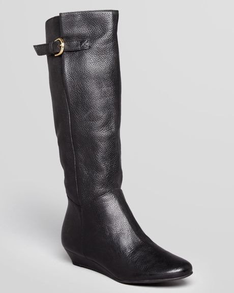 steven by steve madden wedge boots intyce in black lyst