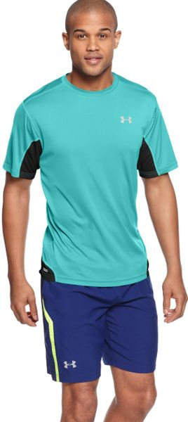 Under armour heatgear flyweight running tshirt in black for Do under armour shirts run small