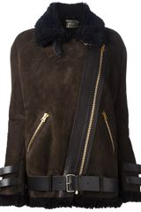 Acne Long Biker Jacket - Lyst