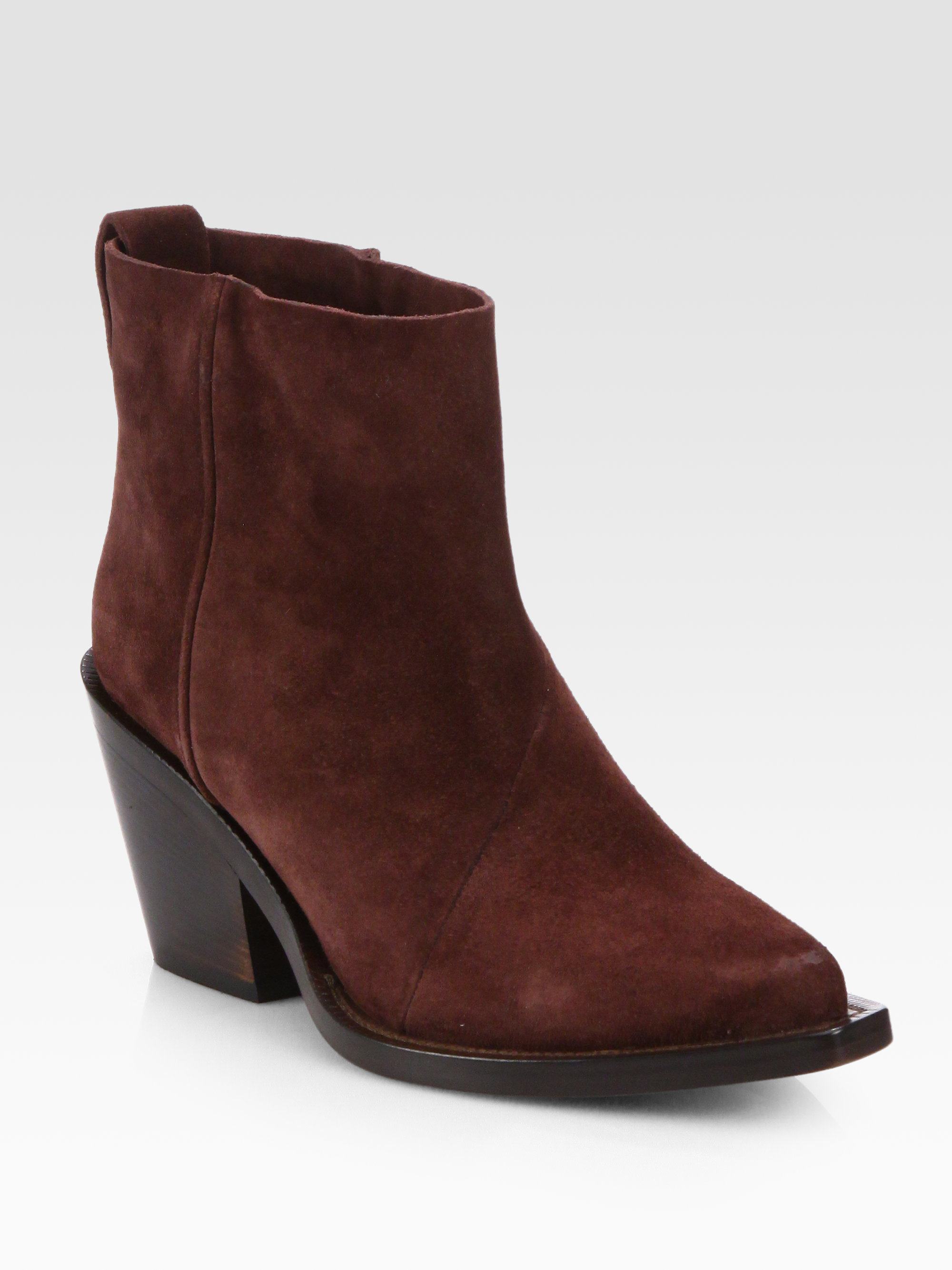 acne studios donna suede ankle boots in wine lyst