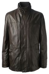 Boss by Hugo Boss Leather Jacket - Lyst