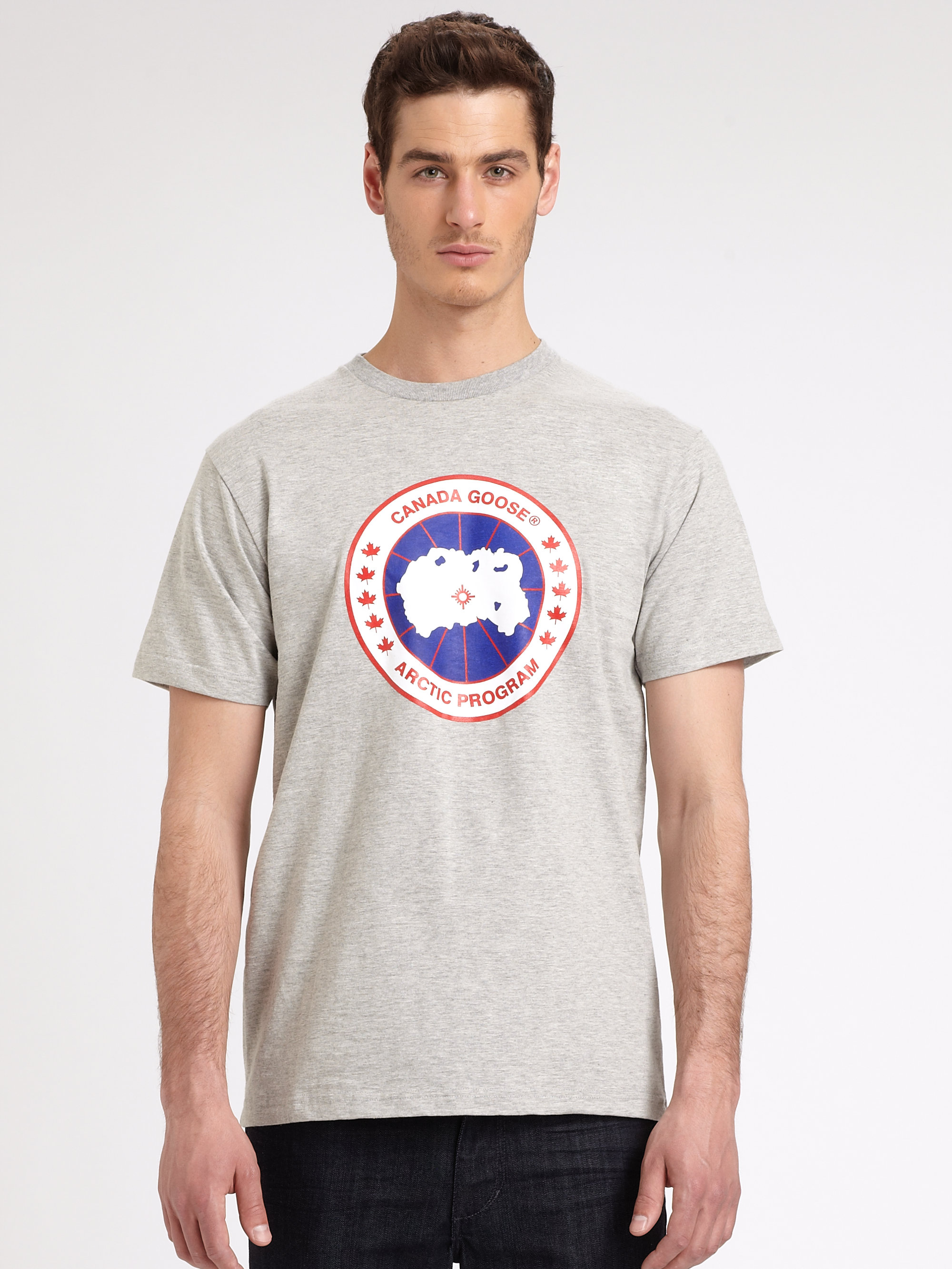 Canada goose cotton tee in gray for men lyst for Canada goose t shirt