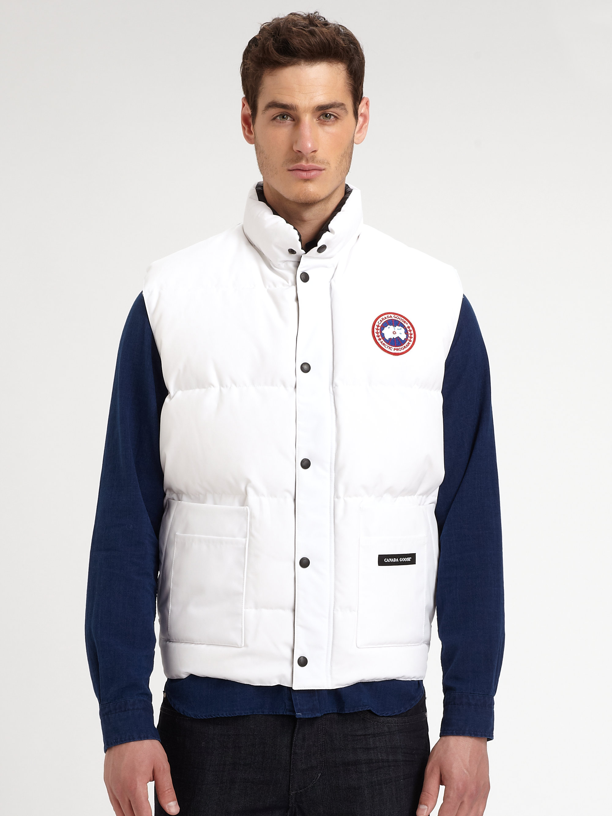 Lyst Canada Goose Freestyle Vest In White For Men