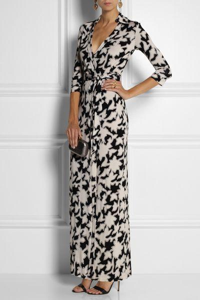 Dvf Abigail Print Silk Wrap Maxi Dress Abigail Printed Silkjersey