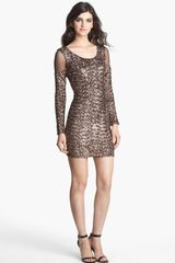 Dress The Population Jaden Sequin Bodycon Dress - Lyst