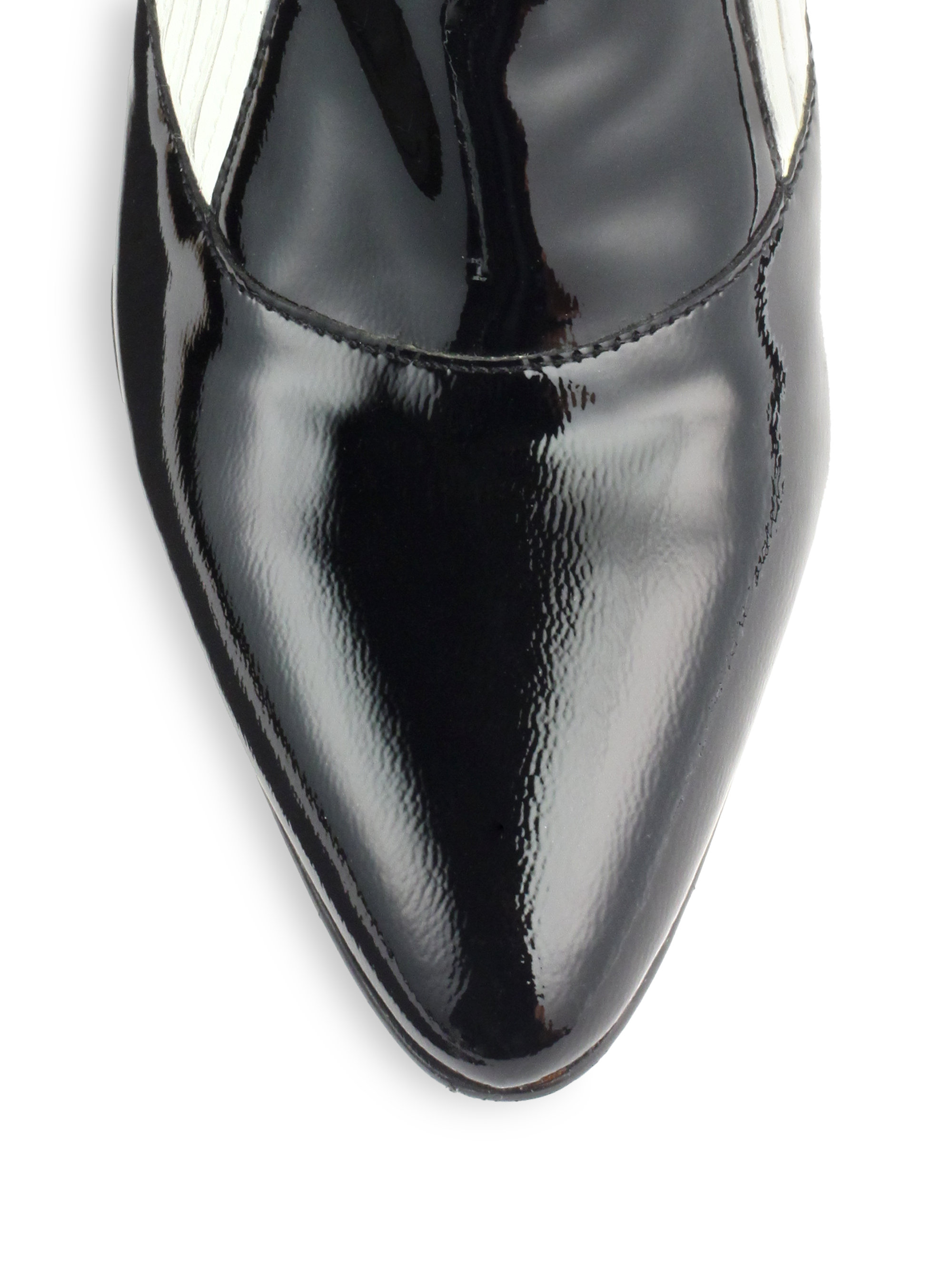 Elizabeth and james Lia Bicolor Patent Leather Ankle Boots in ...