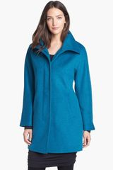 Ellen Tracy Wool Blend A-line Coat - Lyst