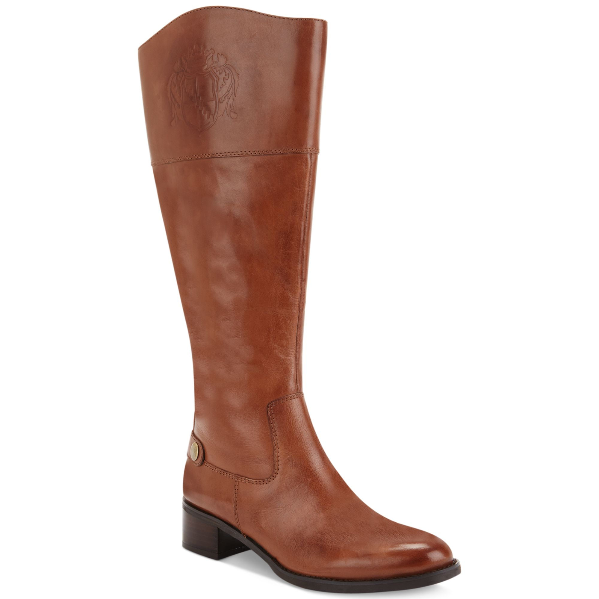 franco sarto chipper wide calf boots in brown